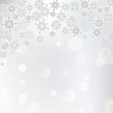 Vector illustration of a winter background with beautiful shiny snowflakes. Christmas cards, banners, background. Illustration
