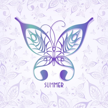 graphic butterfly.Illustration of a summer insect.