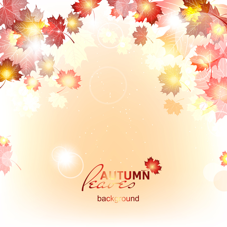 Abstract background of autumn leaf fall, deadwood. Illustration