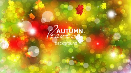 Illustration of fuzzy soft warm autumn background. Illustration