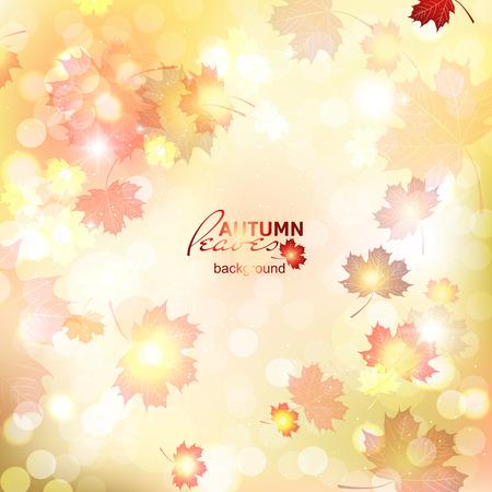 Illustration of fuzzy soft warm autumn background, deadwood. Illustration