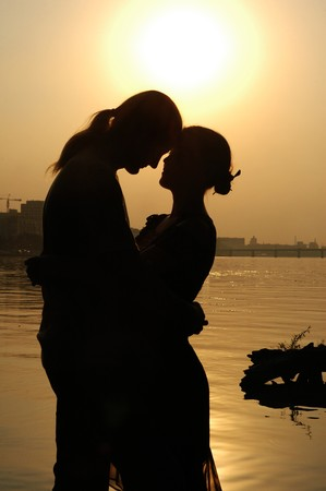 love and romanticism at Sunset Stock Photo - 4220898