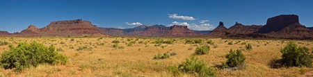 A panoramic view of the Castle Valley are outside Moab, Utah.