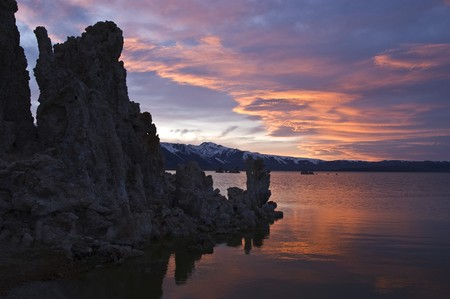 sierras: With reflecting tufa towers in Mono Lake, I was able to capture a beautiful sunset in the Eastern Sierras.