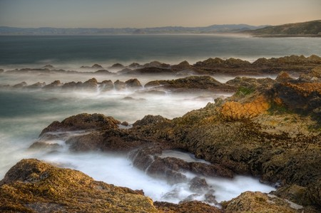 A view of Morro Rock on the horizon from Montana De Oro State Park photo