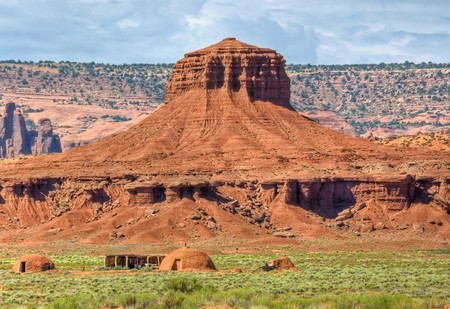 Ceremonial sweat lodges in Monument Valley, Utah.