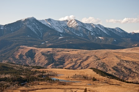 The Nurses Lakes and Gallatin National Forest on the West Boulder basin near McLeod, Montana.