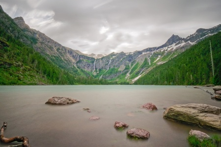 A long exposure of Avalanche Lake, Glacier National Park, Montana. Stock Photo - 8797138