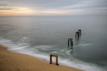 davenport: The California coast and Davenport pier.