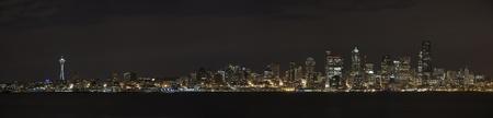 elliot: The Seattle, Washington skyline at night.
