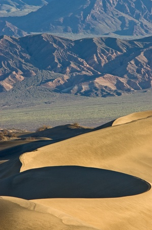 Sunrise on Mesquite Flat Sand Dunes