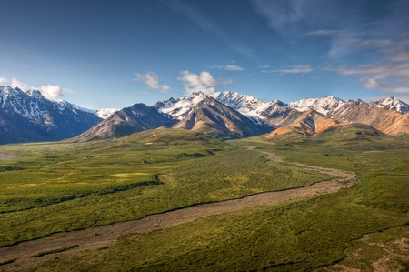 The view to the South from Polychrome Point in Denali National Park, Alaska.