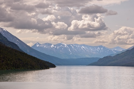 A view of Kenai Lake with dramatic clouds on Kenai Peninsula, Alaska. Stock Photo - 9013123