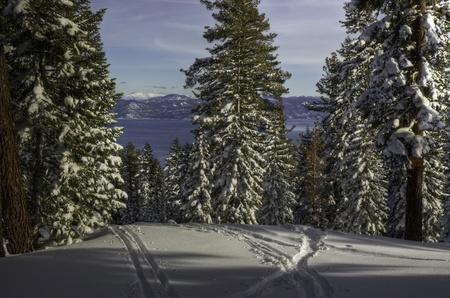 A view of Lake Tahoe from the peak of Northstar Ski Resort