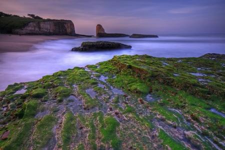 A long exposure of sunrise on Four Mile Beach in Santa Cruz, California. photo