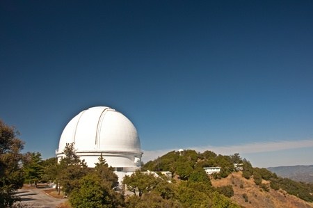 A view of the dome of the 3 meter Shane Reflector telescope at the Lick Observatory on Mount Hamilton, San Jose, California.