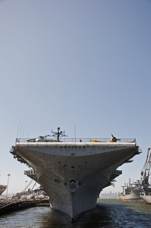 The aircraft carrier USS Hornet museum moored at Oakland, California. Stock Photo