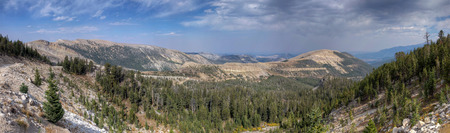 The view West from the top of Picket Pin Mountain into the Stillwater River Valley, Montana.