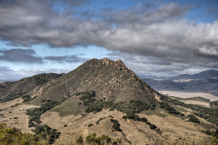 A view of Bishop Peak from Mount Madonaa in San Luis Obispo, California.