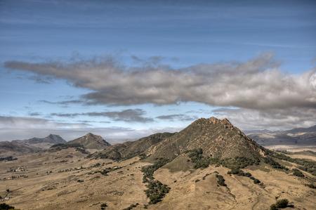 Four of the nine sister peaks in the Morros of San Luis Obispo County under an autumn sky. Reklamní fotografie