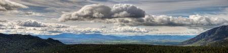 Carson Valley Panorama Stock Photo