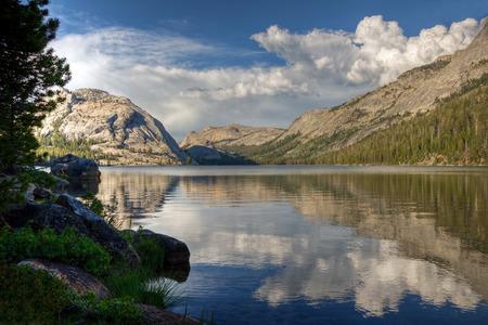 A reflection on Tenaya Lake, Yosemite National Park