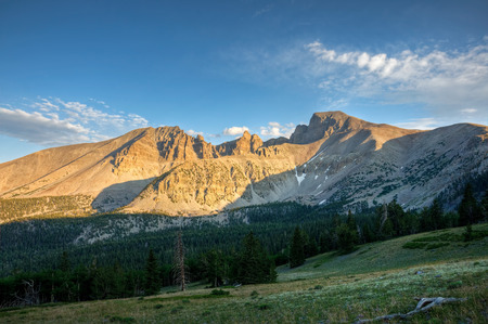 Wheeler Peak stands over Great Basin National Park, Nevada  Stock Photo