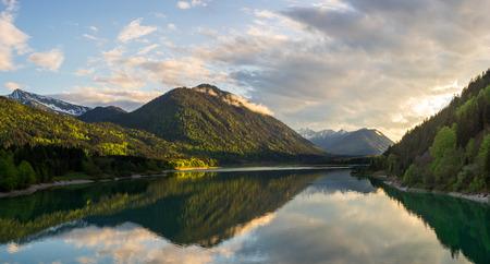 Sylvensteinsee Bavaria Alps