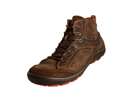 Excellent brown shoes for any weather  Aggressive style will attract the attention of others Stock Photo - 18241555