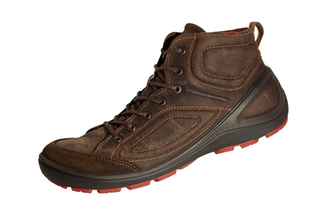 Excellent brown shoes for any weather  Aggressive style will attract the attention of others Stock Photo - 18341644