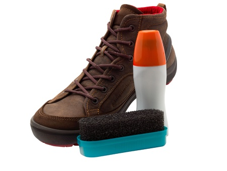 Beautiful shoes and excellent facilities for the care of the boots. Stock Photo - 18512495