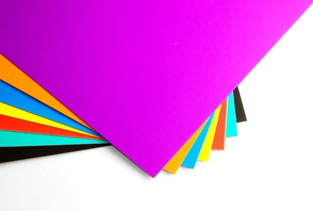 Accurately spread out color cardboard  It is possible to use as a color sample  photo