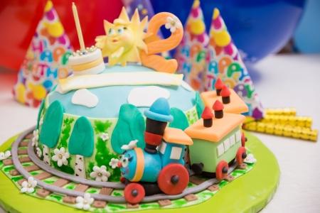Schone Torte Mit Einem Fantastischen Zug Und Andere Dekorationen