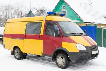 snowbound: car snowbound in winter Stock Photo