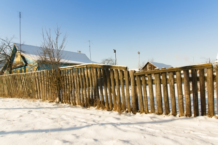 rural landscapes: rural landscapes photographed snowy winter in Europe Stock Photo