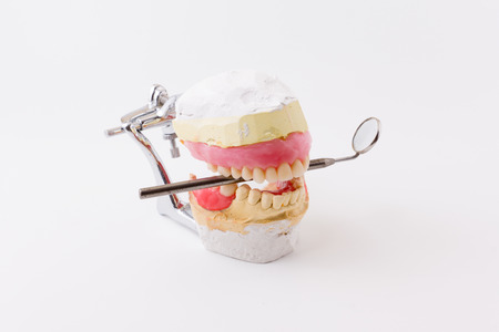 dental laboratory: the artificial dentures made in dental laboratory