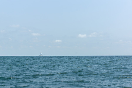 open spaces: small vessel on sea open spaces under a salty wind