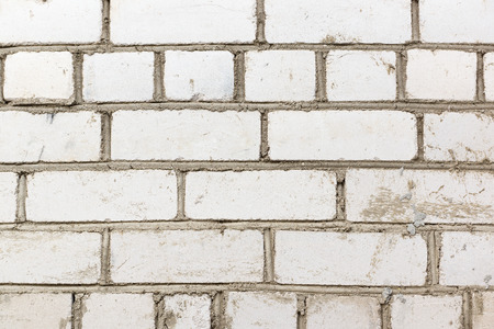 in the ranks: the white brick laid by ranks represents texture Stock Photo