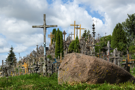 redemption: the stone with the crucifixions located near it is a creed and a worship