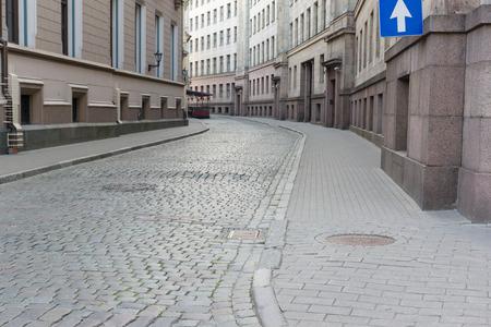 empedrado: la estrecha calle de la ciudad de partir a su vez está pavimentado por un mosaico