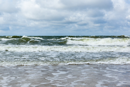 big waves: big waves at the sea during a storm Stock Photo
