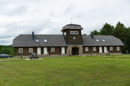 locality: Rapaliai, LITHUANIA - JULY 26,2015: are the country tourism farmstead, located on picturesque historical Samogitia locality. Editorial