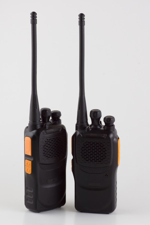 walkie talkie: Two walkie talkie isolated on white background