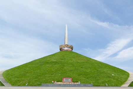 Minsk, Belarus - July 17, 2016: memorial complex Hill of Glory is a monument to the Great Patriotic War in Belarus.