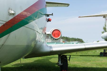 minsk: Minsk, Belarus - July 17, 2016: aviation technology museum in the open air in the city of Minsk.