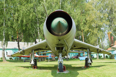 take a history: Minsk, Belarus - July 17, 2016: aviation technology museum in the open air in the city of Minsk.