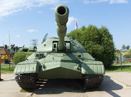 aerial bomb: Loshany, Belarus - July 31, 2016: Stalin Line this is historical and cultural complex. The exposition is a complex defensive fortifications along the borders of the USSR. Visitors meets military equipment. Editorial
