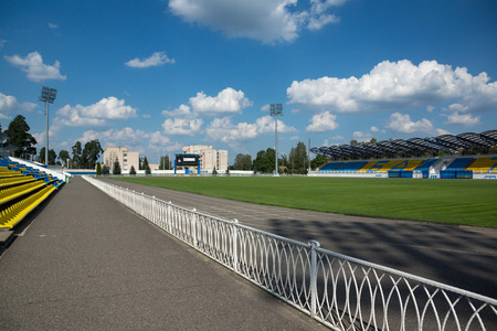 belarus: Borisov, Belarus - September 02, 2016: old stadium belonging to FC BATE   in the Borisov city of Belarus