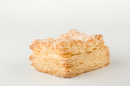 Sweet puff pastry with sugar powder