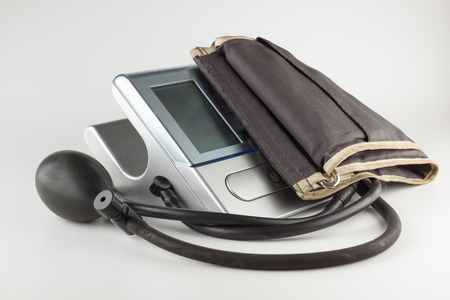 Automatic device for measuring blood pressure in humans Stock Photo